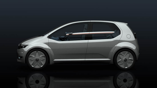 Volkswagen Go Concept are o suprafata vitrata laterala foarte generoasa