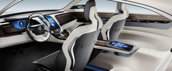 Interiorul lui Volvo Concept Universe este tot simplist conceput, dar luxos si ergonomic