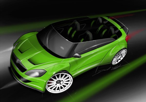 Skoda Fabia RS 2000 Design Concept a fost realizata special pentru Worthersee 2011