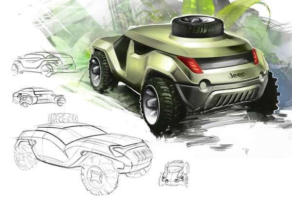 Jeep Survivor concept poate fi derivat si in alte versiuni, cu utilizari diverse