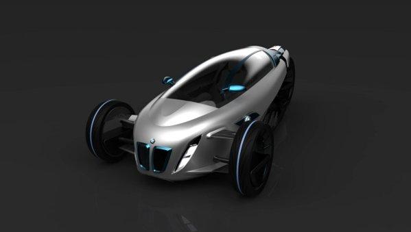 BMW i1, conceptul unui vehicul care imbina lumea moto cu noile masini ecologice BMW i