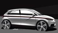 Primele schiţe cu Audi A2 Concept pentru Frankfurt 2011
