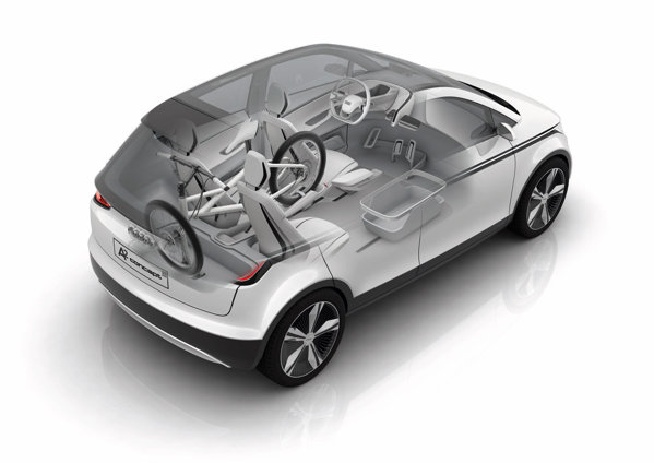 Desi are doar 3,8 metri lungime, Audi A2 promite o modularitate interioara excelenta
