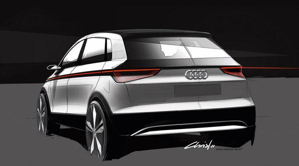 Pe conceptul Audi A2, germanii vor expune noua tehnologie LED matrix beam