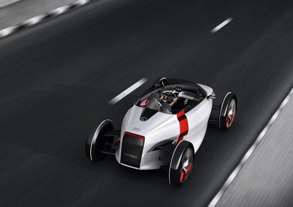 Audi Urban Concept are peformante oneste in oras: 6 secunde pentru 0-60 km/h si 100 km/h viteza maxima