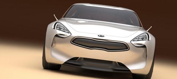 KIA GT are o parte frontala sofisticata, dar destul de usor identificabila ca imagine de marca