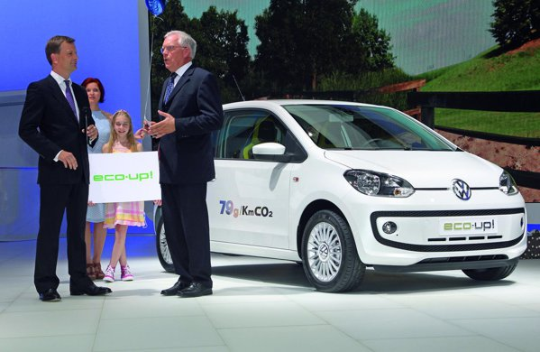 Volkswagen eco-up! este alimentat cu gaz natural CNG si are emisii de CO2 de 79 g/km