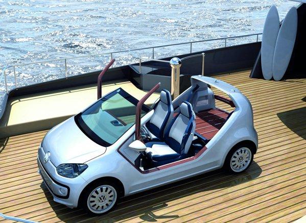 Volkswagen up! azzura sailing team a fost conceput de Giugiaro si Walter da Silva