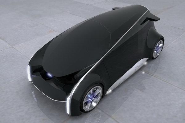 Forma conceptului Toyota Fun Vii este neconventionala pentru o masina actuala