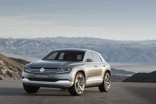 Partea frontala a lui VW Cross Coupe Concept beneficiaza de Volkswagen Visage
