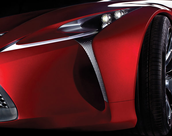 Lexus LF-LC concept promite un design cu detalii complexe