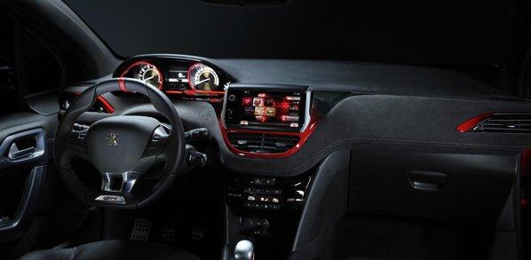 Interiorul lui Peugeot 208 GTi Concept ofera o ambianta sportiva si luxoasa