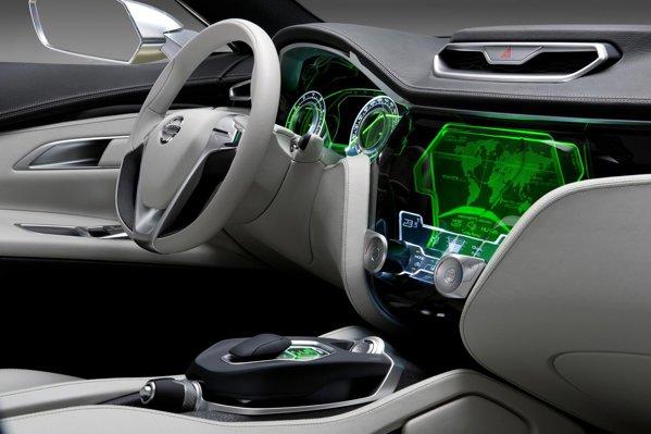 Interiorul SF al lui Nissan Hi-Cross surprinde prin stilul coerent