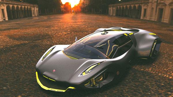 Bizzarini Veleno este propulsat de un motor electric pe bază de hidrogen