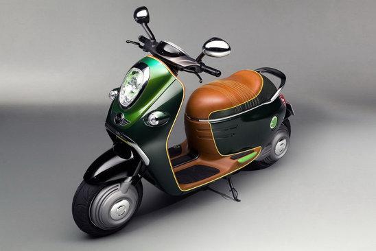 Mini Scooter Concept E pune un foarte mare accent pe individualizarea estetica