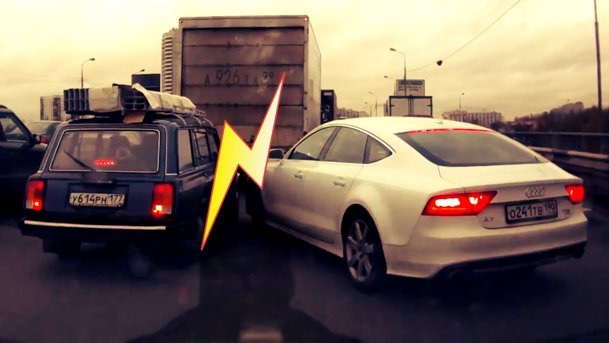 VIDEO: Şofer de Audi A7 versus şofer de Lada