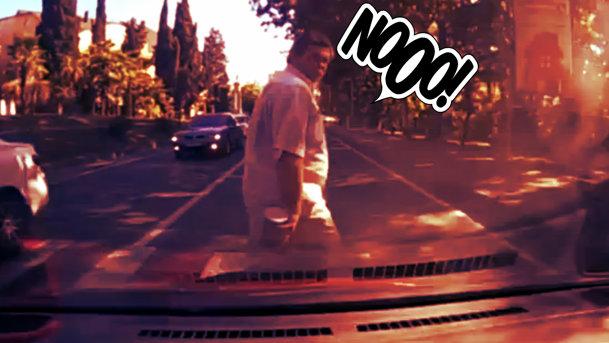 Pieton lovit pe trecere de un şofer...nevinovat. VIDEO