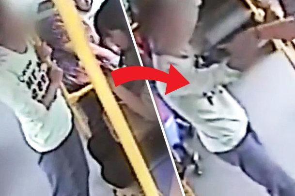 Călătorea cu autobuzul când de ea se apropie un bărbat. El se freacă de piciorul FEMEII iar reacţia de MILIOANE a ajuns viral - VIDEO