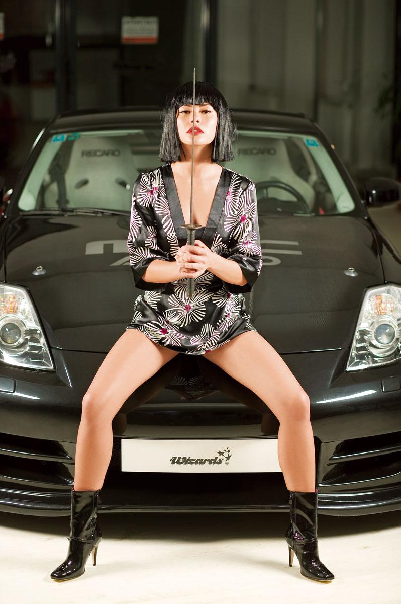 Imagini Crina Semciuc şi Nissan 350z