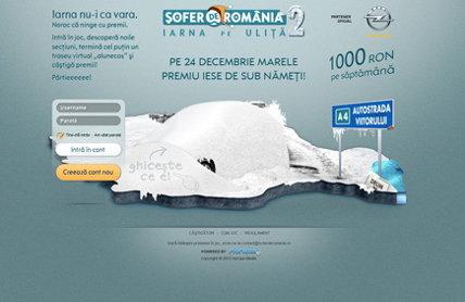 """ProMotor.ro a lansat """"Şofer de România 2"""", jocul interactiv de supravieţuire iernatică pe şoselele ţării"""