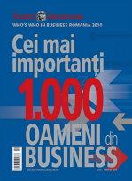 """ZIARUL FINANCIAR prezintă """"Cei mai importanţi 1.000 oameni din business"""" în 2010"""