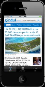 gândul.info lansează aplicaţia de iPhone