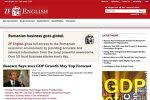 ZIARUL FINANCIAR lansează ZF English. Toate ştirile relevante din România pentru liderii de afaceri străini, pe www.zfenglish.com