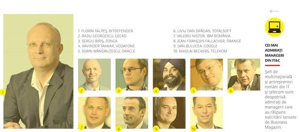 Cei mai admiraţi manageri din IT&C, în 2015