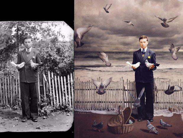 A transformat fotografiile unui român în opere de artă inedite