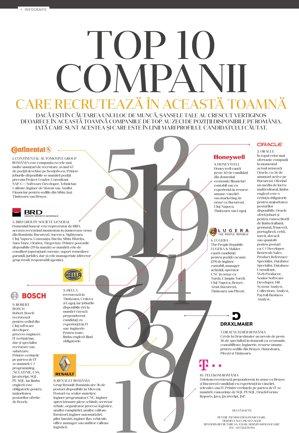Top 10 companii din România care recrutează în această toamnă