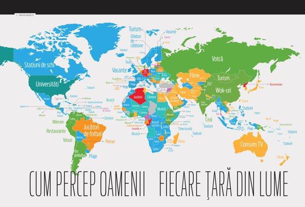 Cum sunt percepute ţările de pe glob
