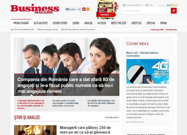 Site-ul revistei Business Magazin, într-un nou layout
