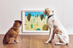 Cum arată prima expoziţie de artă dedicată câinilor - GALERIE FOTO