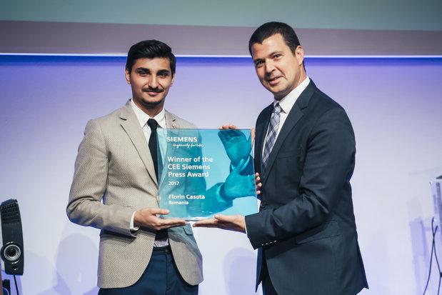 Jurnalistul român Florin Caşotă a câştigat trofeul Siemens CEE Press Award 2017