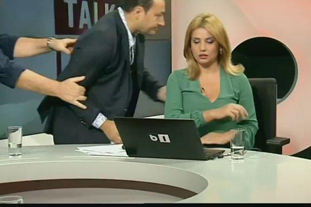 """""""Asta e culmea tupeului!"""" Motivul incredibil pentru care Palada a reclamat-o la CNA pe prezentatoarea TV care l-a dat afară din emisiune după bătaia cu Goţiu"""
