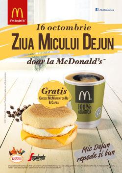 Motivul pentru care 30.000 de clienţi McDonald's au primit micul dejun gratuit