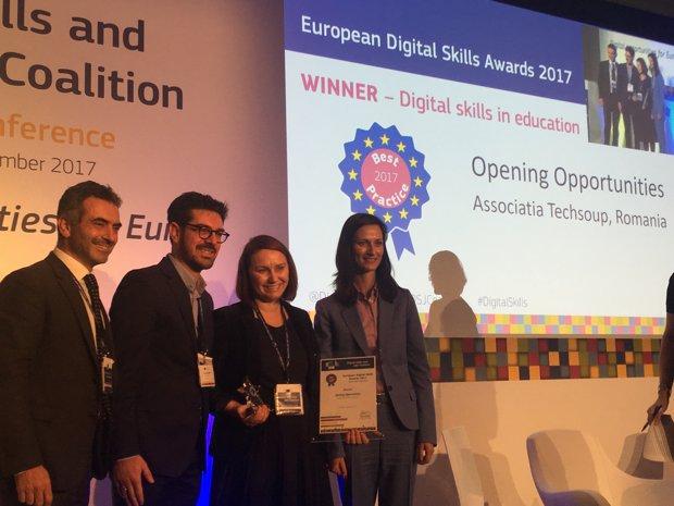 Programul Opening Opportunitie, printre cele 5 iniţiative europene premiate în competiţia European Digital Skills Awards