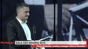 Florin Godeanu, country manager Adecco România - premiat la GALA CEO AWARD 2018 - VIDEO