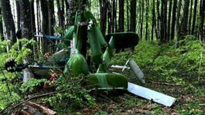 Detalii despre elicopterul misterios PRĂBUŞIT la Săpânţa: Pilotul era din Belarus, dat dispărut de la începutul lunii martie. Imagini VIDEO
