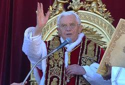 Mesajul de Craciun al Papei Benedict - urbi et orbi (VIDEO)