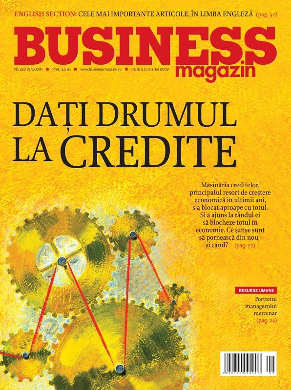 Business Magazin, în 2009 - Maşinăria creditelor s-a blocat. Cum se poate reporni economia românească