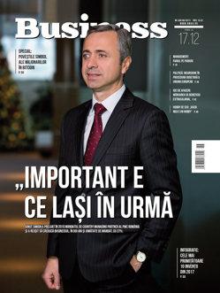 Citeşte în noul număr Business Magazin din 11 decembrie 2017