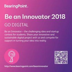 """BearingPoint lansează """"Be an Innovator"""" 2018, noua ediţie a concursului de idei inovatoare pentru studenţi"""