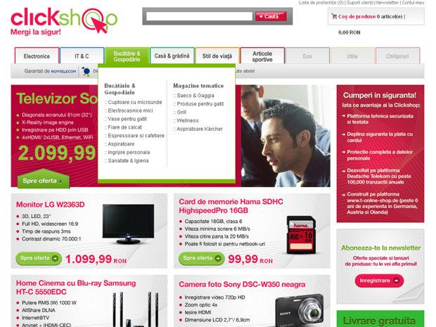 Romtelecom lanseaza magazinul online clickshop.ro