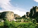 Mănăstirile Meteore construite pe zone stâncoase din provincia Thessaly din Grecia