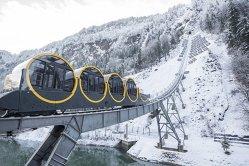 Cea mai abruptă cale ferată din lume, deschisă în Alpii elveţieni