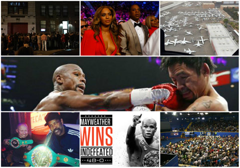 FOTO   Cum s-a urmărit meciul Mayweather-Pacquiao în lume. De la stilul gangsta în Brooklyn, la străzile pustii din Manila şi bling-bling-ul din MGM Arena