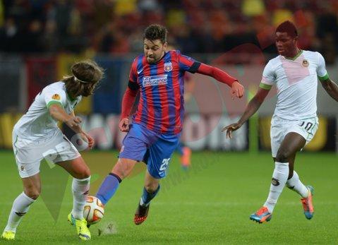 Rusescu s-a răzbunat pe fosta adversară din Portugalia, Rio Ave, şi este golgheterul la zi în Europa League