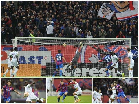 Ave Rusescu! GALERIE FOTO   Steaua este liderul grupei graţie formei de zile mari a atacantului împrumutat de la Sevilla
