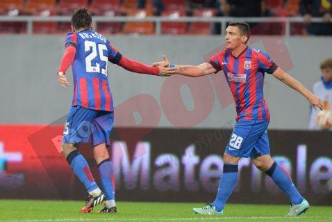 """Rusescu, eficient pe teren, scurt şi la obiect la declaraţii: """"Ne-am atins scopul"""". Ce spune Tănase despre lupta în trei pentru calificare"""